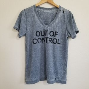 NWT Urban Outfitters Distressed Graphic T Shirt L